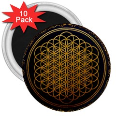 Bring Me The Horizon Cover Album Gold 3  Magnets (10 Pack)  by Onesevenart