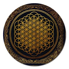 Bring Me The Horizon Cover Album Gold Magnet 5  (round) by Onesevenart