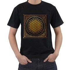 Bring Me The Horizon Cover Album Gold Men s T Shirt (black) (two Sided) by Onesevenart