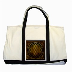 Bring Me The Horizon Cover Album Gold Two Tone Tote Bag by Onesevenart