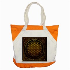 Bring Me The Horizon Cover Album Gold Accent Tote Bag by Onesevenart