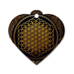Bring Me The Horizon Cover Album Gold Dog Tag Heart (one Side) by Onesevenart