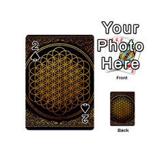 Bring Me The Horizon Cover Album Gold Playing Cards 54 (mini)  by Onesevenart