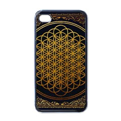 Bring Me The Horizon Cover Album Gold Apple Iphone 4 Case (black) by Onesevenart