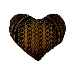 Bring Me The Horizon Cover Album Gold Standard 16  Premium Heart Shape Cushions by Onesevenart