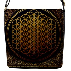 Bring Me The Horizon Cover Album Gold Flap Messenger Bag (s) by Onesevenart
