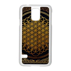 Bring Me The Horizon Cover Album Gold Samsung Galaxy S5 Case (white) by Onesevenart