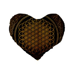 Bring Me The Horizon Cover Album Gold Standard 16  Premium Flano Heart Shape Cushions by Onesevenart