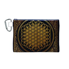 Bring Me The Horizon Cover Album Gold Canvas Cosmetic Bag (m) by Onesevenart