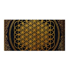 Bring Me The Horizon Cover Album Gold Satin Wrap by Onesevenart