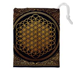 Bring Me The Horizon Cover Album Gold Drawstring Pouches (xxl) by Onesevenart