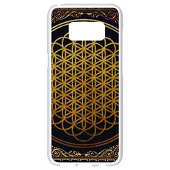 Bring Me The Horizon Cover Album Gold Samsung Galaxy S8 White Seamless Case by Onesevenart