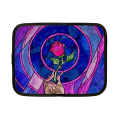 Enchanted Rose Stained Glass Netbook Case (small)  by Onesevenart