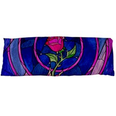 Enchanted Rose Stained Glass Body Pillow Case Dakimakura (two Sides) by Onesevenart
