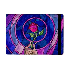 Enchanted Rose Stained Glass Apple Ipad Mini Flip Case by Onesevenart