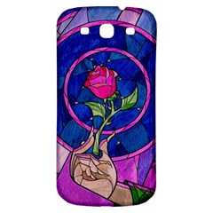 Enchanted Rose Stained Glass Samsung Galaxy S3 S Iii Classic Hardshell Back Case by Onesevenart