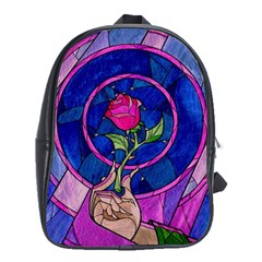 Enchanted Rose Stained Glass School Bags (xl)  by Onesevenart