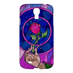 Enchanted Rose Stained Glass Samsung Galaxy S4 I9500/i9505 Hardshell Case by Onesevenart