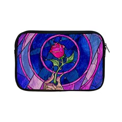 Enchanted Rose Stained Glass Apple Ipad Mini Zipper Cases by Onesevenart