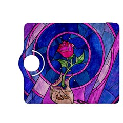 Enchanted Rose Stained Glass Kindle Fire Hdx 8 9  Flip 360 Case by Onesevenart