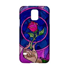 Enchanted Rose Stained Glass Samsung Galaxy S5 Hardshell Case  by Onesevenart