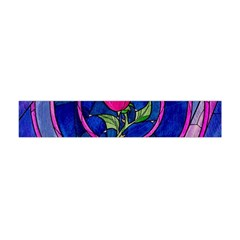 Enchanted Rose Stained Glass Flano Scarf (mini) by Onesevenart