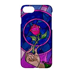 Enchanted Rose Stained Glass Apple Iphone 7 Hardshell Case by Onesevenart