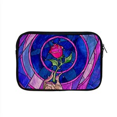 Enchanted Rose Stained Glass Apple Macbook Pro 15  Zipper Case by Onesevenart