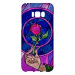 Enchanted Rose Stained Glass Samsung Galaxy S8 Plus Hardshell Case