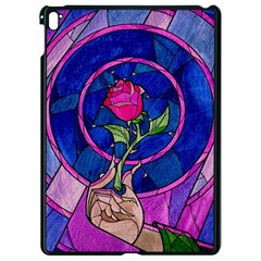 Enchanted Rose Stained Glass Apple Ipad Pro 9 7   Black Seamless Case by Onesevenart