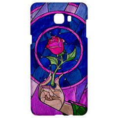 Enchanted Rose Stained Glass Samsung C9 Pro Hardshell Case  by Onesevenart