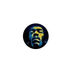 Gabz Jimi Hendrix Voodoo Child Poster Release From Dark Hall Mansion 1  Mini Buttons by Onesevenart