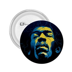 Gabz Jimi Hendrix Voodoo Child Poster Release From Dark Hall Mansion 2 25  Buttons by Onesevenart