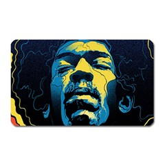Gabz Jimi Hendrix Voodoo Child Poster Release From Dark Hall Mansion Magnet (rectangular) by Onesevenart