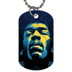 Gabz Jimi Hendrix Voodoo Child Poster Release From Dark Hall Mansion Dog Tag (one Side) by Onesevenart