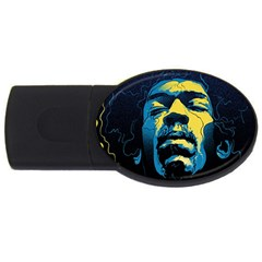 Gabz Jimi Hendrix Voodoo Child Poster Release From Dark Hall Mansion Usb Flash Drive Oval (2 Gb) by Onesevenart