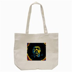 Gabz Jimi Hendrix Voodoo Child Poster Release From Dark Hall Mansion Tote Bag (cream) by Onesevenart