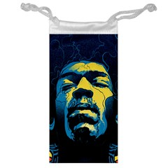 Gabz Jimi Hendrix Voodoo Child Poster Release From Dark Hall Mansion Jewelry Bag by Onesevenart