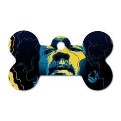 Gabz Jimi Hendrix Voodoo Child Poster Release From Dark Hall Mansion Dog Tag Bone (two Sides) by Onesevenart