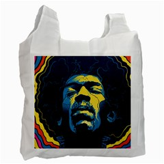 Gabz Jimi Hendrix Voodoo Child Poster Release From Dark Hall Mansion Recycle Bag (two Side)  by Onesevenart