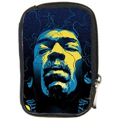 Gabz Jimi Hendrix Voodoo Child Poster Release From Dark Hall Mansion Compact Camera Cases by Onesevenart