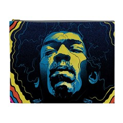 Gabz Jimi Hendrix Voodoo Child Poster Release From Dark Hall Mansion Cosmetic Bag (xl) by Onesevenart