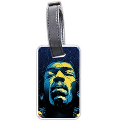 Gabz Jimi Hendrix Voodoo Child Poster Release From Dark Hall Mansion Luggage Tags (one Side)  by Onesevenart