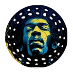 Gabz Jimi Hendrix Voodoo Child Poster Release From Dark Hall Mansion Round Filigree Ornament (Two Sides)