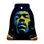 Gabz Jimi Hendrix Voodoo Child Poster Release From Dark Hall Mansion Bell Ornament (Two Sides)