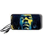Gabz Jimi Hendrix Voodoo Child Poster Release From Dark Hall Mansion Portable Speaker (Black)