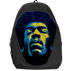 Gabz Jimi Hendrix Voodoo Child Poster Release From Dark Hall Mansion Backpack Bag by Onesevenart