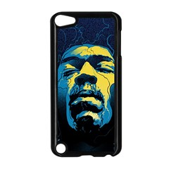 Gabz Jimi Hendrix Voodoo Child Poster Release From Dark Hall Mansion Apple Ipod Touch 5 Case (black) by Onesevenart