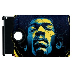 Gabz Jimi Hendrix Voodoo Child Poster Release From Dark Hall Mansion Apple Ipad 3/4 Flip 360 Case by Onesevenart
