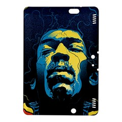 Gabz Jimi Hendrix Voodoo Child Poster Release From Dark Hall Mansion Kindle Fire Hdx 8 9  Hardshell Case by Onesevenart